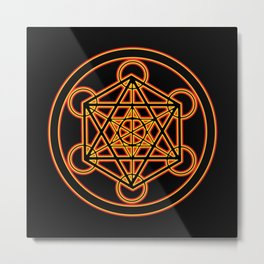 Metatron Red Gold Metal Print