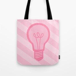 Pastel Pink Light Bulb Tote Bag