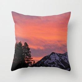 Soda Butte Sunrise Throw Pillow