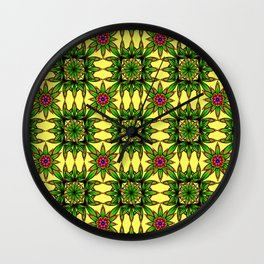 Flowering Wall Clock