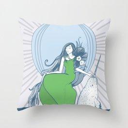 Arctic Queen Throw Pillow