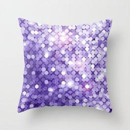 Ultra Violet Purple Glitter Throw Pillow