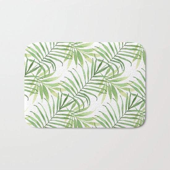 Tropical Branches Pattern 05 Bath Mat