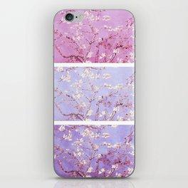 Vincent Van Gogh : Almond Blossoms Lavender Panel Art iPhone Skin