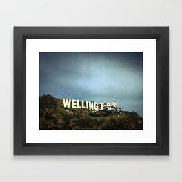 Windy Wellington Sign Framed Art Print