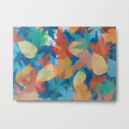 Colorful fall leaves Metal Print