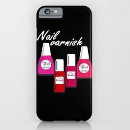 Nail Polish 5 iPhone Case