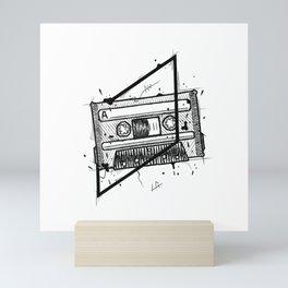 Audio Cassetta Handmade Drawing, Made in pencil and ink, Tattoo Sketch, Tattoo Flash, Blackwork Mini Art Print