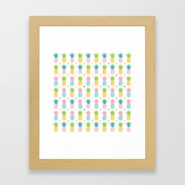 AFE Pineapple Pattern Framed Art Print
