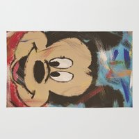 mickey Area & Throw Rugs featuring Mickey by Jason L Cohen Fine Art