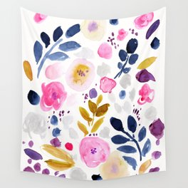Pink Affair Floral Wall Tapestry