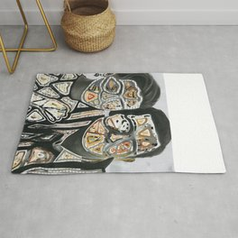 Space Couple Travel Love Rug