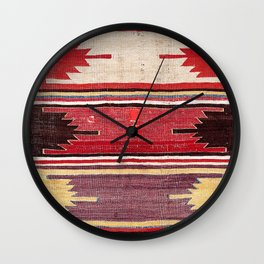 Nevsehir Cappadocian Central Anatolian Kilim Print Wall Clock