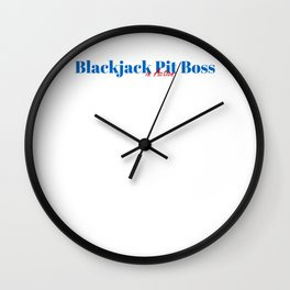 Happy Blackjack Pit Boss Wall Clock