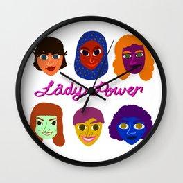 Lady Power Wall Clock