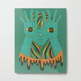 eyes of gypsy  Metal Print
