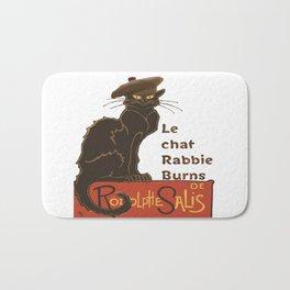 Le Chat Rabbie Burns With Tam OShanter Bath Mat