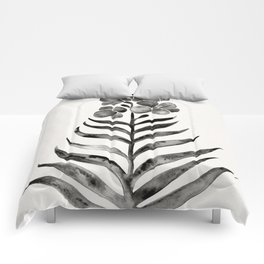 Blooming Black Orchid Comforters