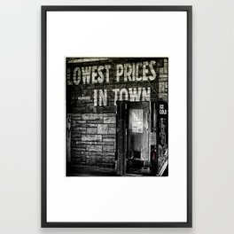 Lowest Prices in Town Framed Art Print