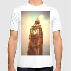 Big Ben I Mens Fitted Tee MEDIUM White