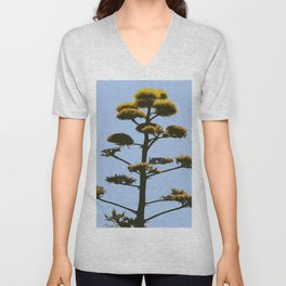 Agave Blossom Abstract Unisex V-Neck