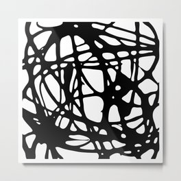 Black and White Abstract Painting I Metal Print