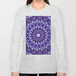 Kaleidoscope Purple Silk Long Sleeve T-shirt
