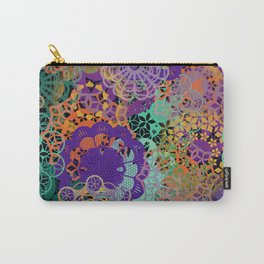 CHEERFUL FLORAL PATTERN I Carry-All Pouch