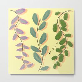 Different Kinds of Leaves Metal Print