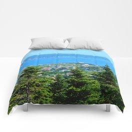 Bonaventure Island panoramic Comforters