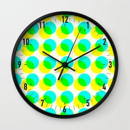 dots pop pattern 3 Wall Clock