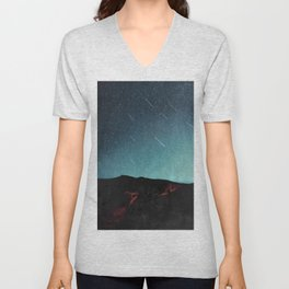 night of falling stars Unisex V-Neck