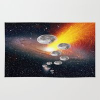 sci fi Area & Throw Rugs featuring Sci-Fi Space Universe by  Agostino Lo Coco