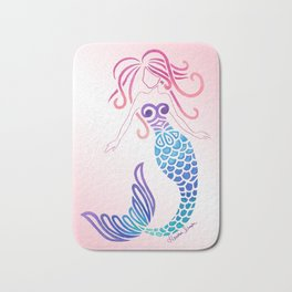 Tribal Mermaid Bath Mat
