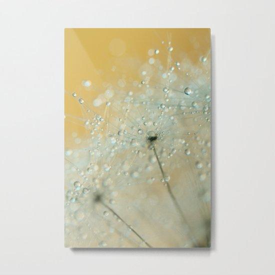 Soft Blue Drops Metal Print