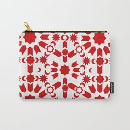 Red Arabesque Carry-All Pouch