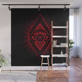 The Eye of Providence is watching you! (Diabolic red Freemason / Illuminati symbolic) Wall Mural