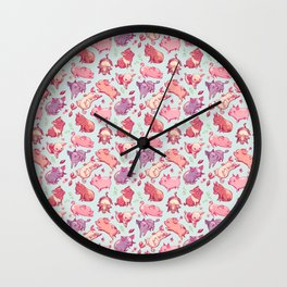 Piggy Pattern Wall Clock