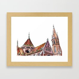 Hungarian church - secession | neo gothic Framed Art Print