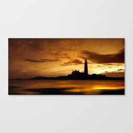 St Mary's lighthouse - Whitley Bay - UK Canvas Print