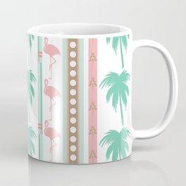 Art Deco Palm Trees and Flamingos Coffee Mug