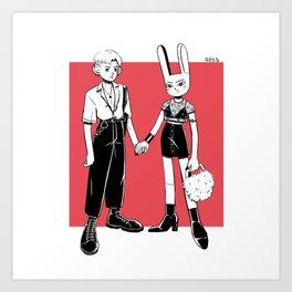 Fashionista couple Art Print