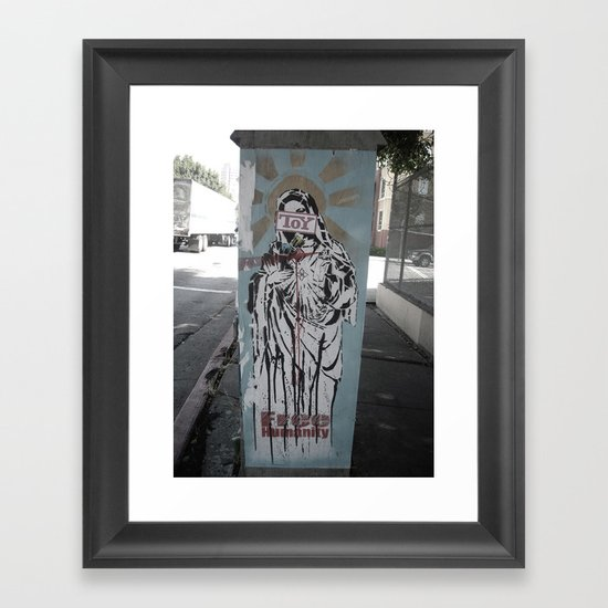 free humanity of toys Framed Art Print