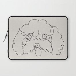 One Line Poodle Laptop Sleeve