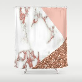 Marble - pink and gold Shower Curtain