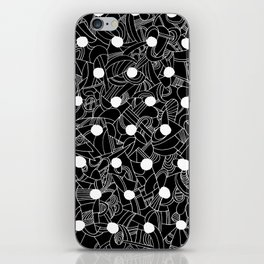 Abstract black and white 2 iPhone Skin