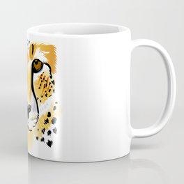 cheetah head close-up illustration Coffee Mug