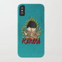karma iPhone & iPod Cases featuring Karma by Seez