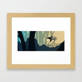 Bearbot And Bugdude Framed Art Print