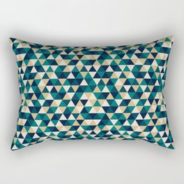 Colorful Triangles Pattern 3 Rectangular Pillow